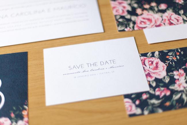 convite de casamento floral premium - save the date