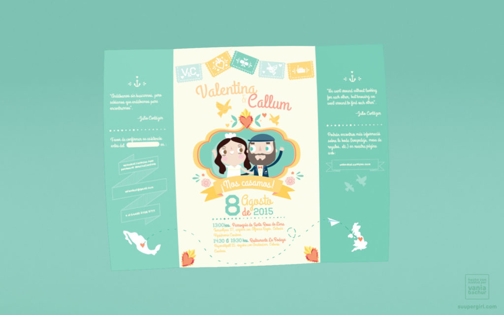 convite de casamento a mexicana - interior