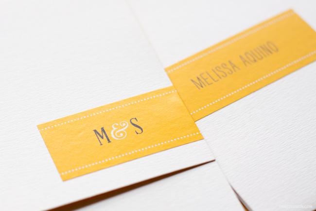 convite de casamento bolinhas - pormenor