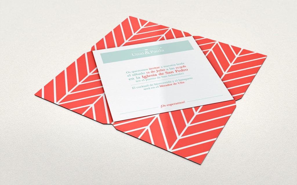 convite de casamento com dobragem especial