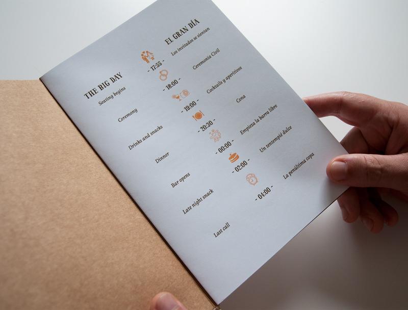 convite de casamento ilustracao - menu