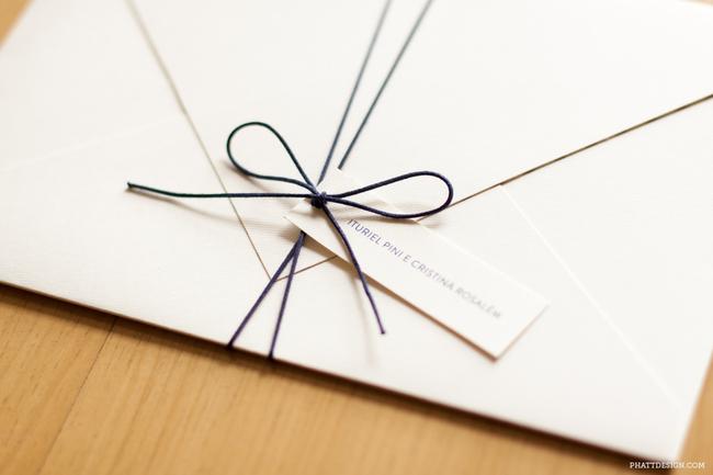 convite de casamento maritimo envelope