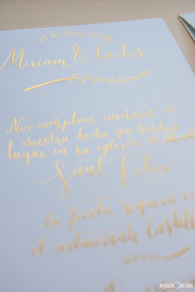convite de casamento ouro - convite