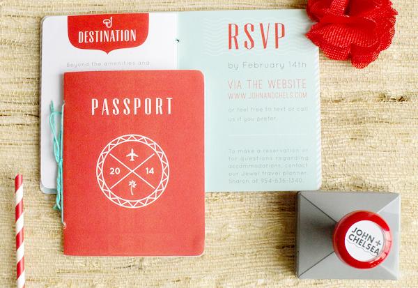 Convite de casamento passaporte geral