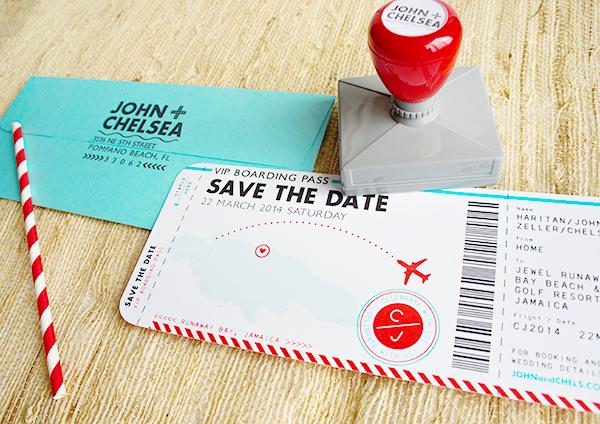 Convite de casamento passaporte save the date