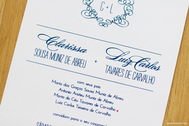 convite de casamento renda de papel - interior