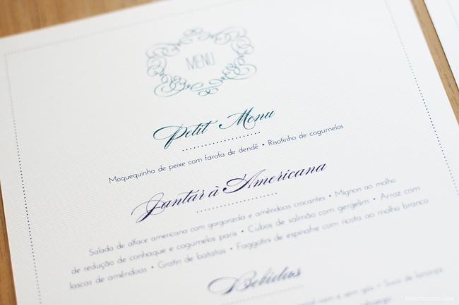 convite de casamento renda de papel - menu