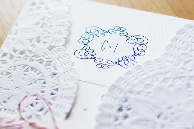convite de casamento renda de papel - pormenor