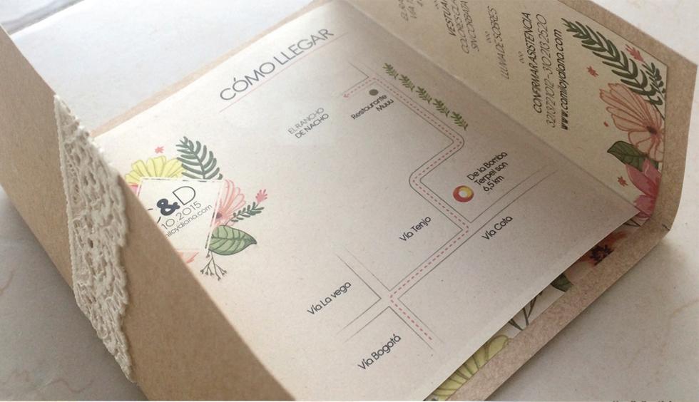 convite de casamento simbolo coracao - interior