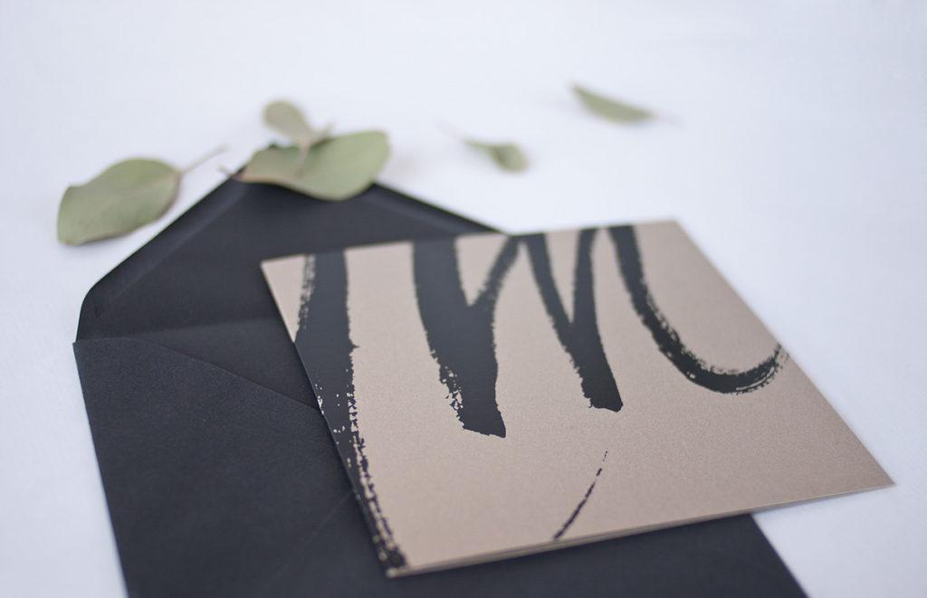 convite de casamento tipografia abstrata - capa