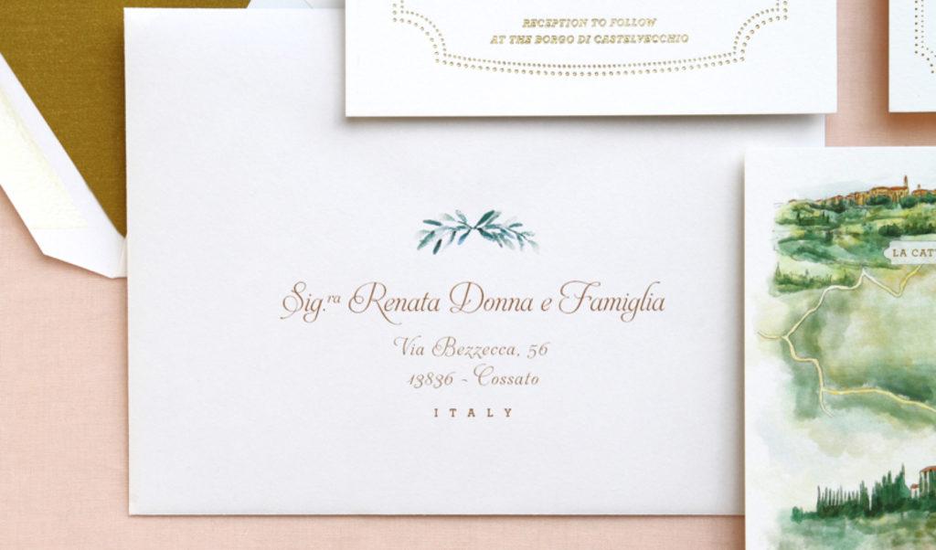 convite de casamento toscania - envelope