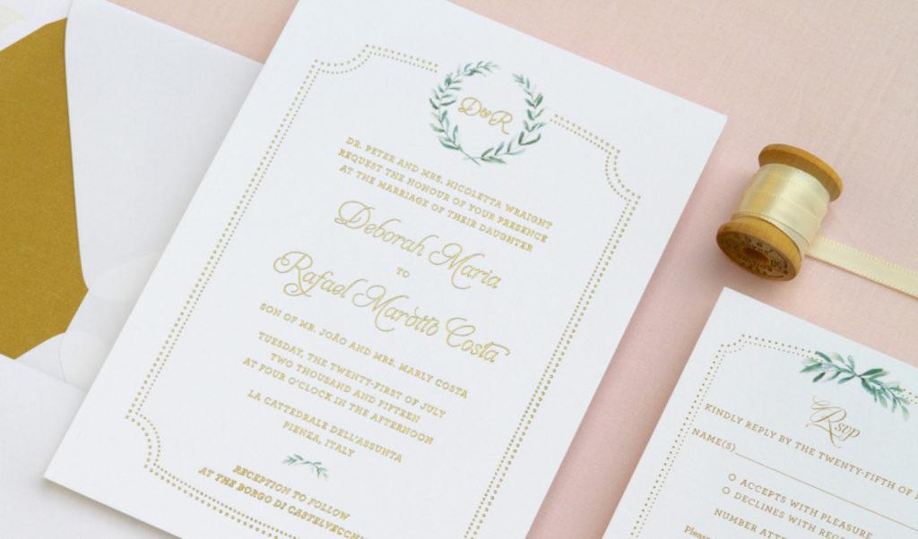 convite de casamento toscania - pormenor