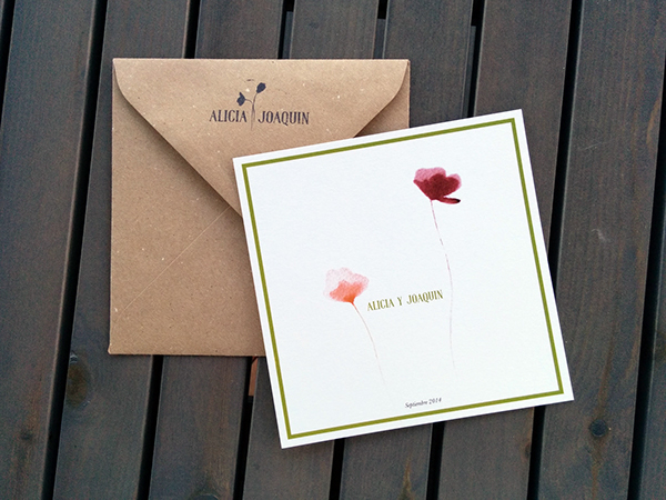 convite de casamento flores - frente