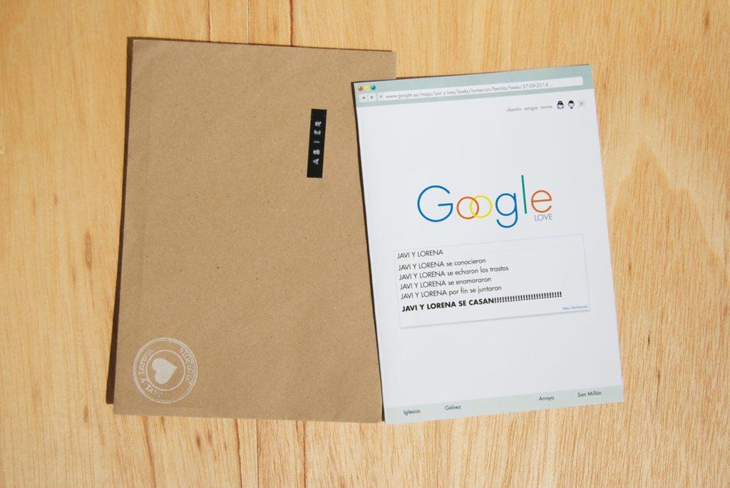 convite de casamento google