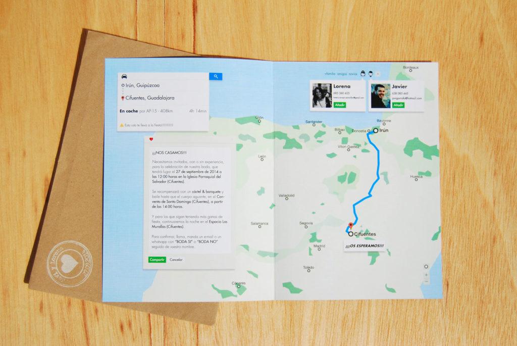 convite de casamento google - mapa