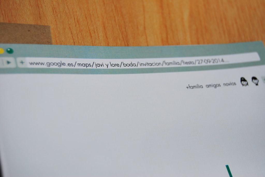 convite de casamento google - verso