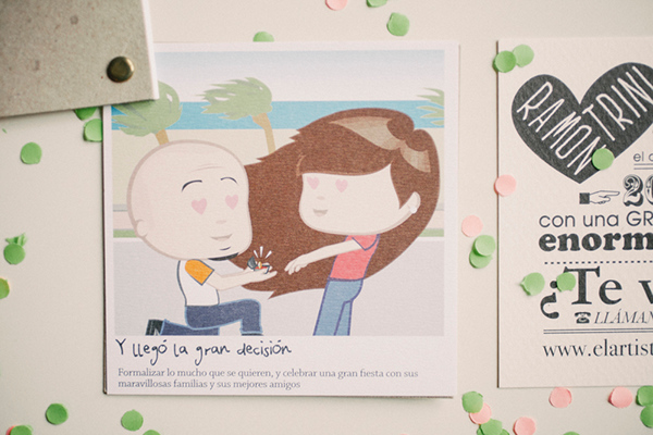convite de casamento ilustracao - 01