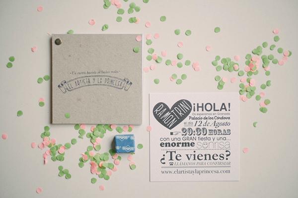 convite de casamento ilustracao - pormenor