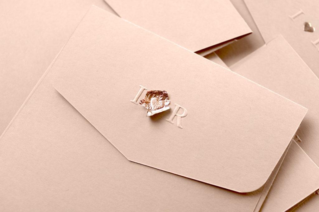 convite de casamento minimal - envelope