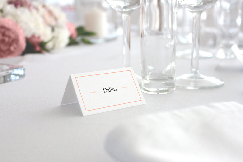 convite de casamento minimal - marcador de mesa