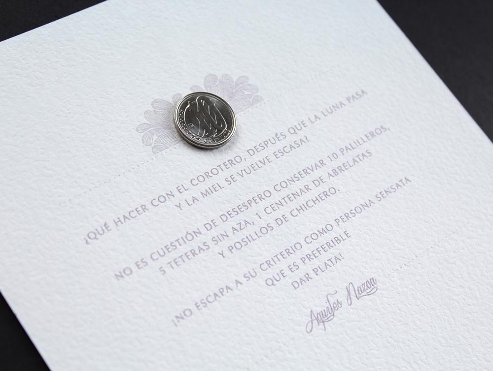 convite de casamento monograma - verso
