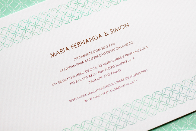 convite de casamento padrao - pormenor