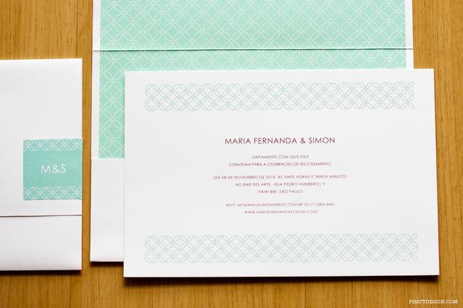 convite de casamento padrao