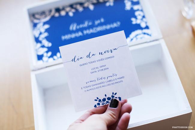 convite de madrinha caixinha - convite